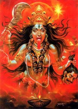 Fierce Face of Goddess
